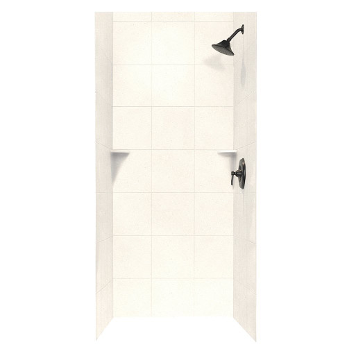 "Swanstone SQMK72-3636 Shower Square Tile Wall Kit 36"" x 36"" x 72"" - Solid Color"