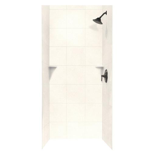 "Swanstone SQMK96-3636 Shower Square Tile Wall Kit 36"" x 36"" x 96"" - Aggregate Color"
