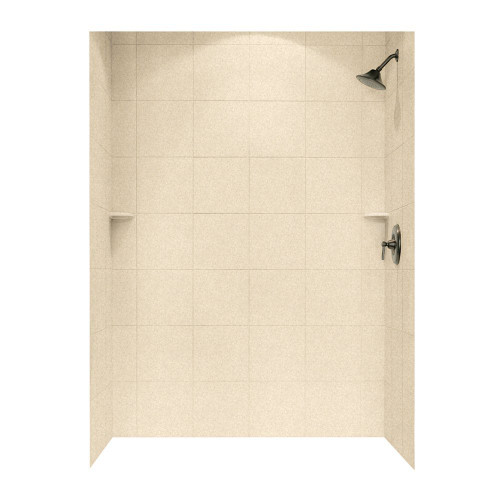 """Swanstone SQMK72-3662 Shower Square Tile Wall Kit 36"""" x 62"""" x 72"""" - Solid Color"""