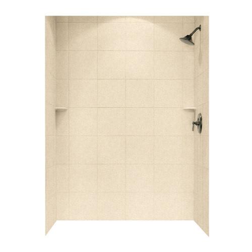 "Swanstone SQMK72-3662 Shower Square Tile Wall Kit 36"" x 62"" x 72"" - Aggregate Color"