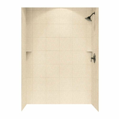 """Swanstone SQMK96-3662 Shower Square Tile Wall Kit 36"""" x 62"""" x 96"""" - Solid Color"""