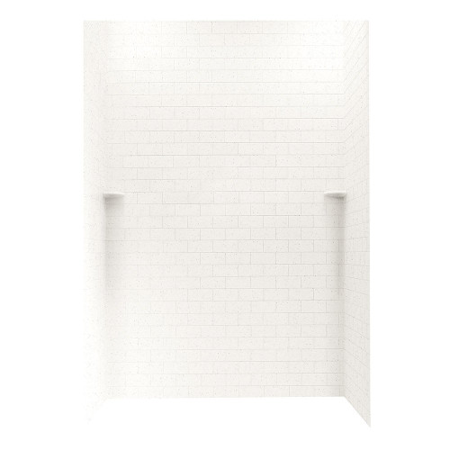 "Swanstone STMK96-3662 Shower Subway Tile Wall Kit 36"" x 62"" x 96"" - Solid Color"