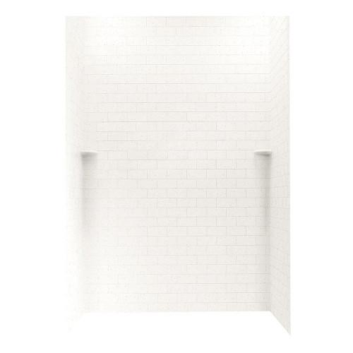 "Swanstone STMK96-3662 Shower Subway Tile Wall Kit 36"" x 62"" x 96"" - Aggregate Color"