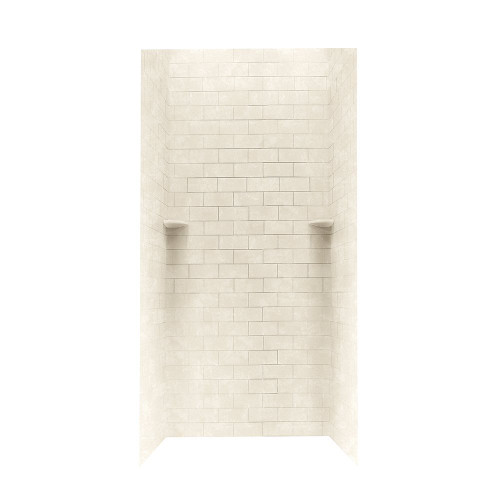 """Swanstone STMK96-3636 Shower Subway Tile Wall Kit 36"""" x 36"""" x 96"""" - Solid Color"""