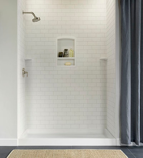 Swanstone Stmk96 3636 Shower Subway Tile Wall Kit 36 Quot X 36