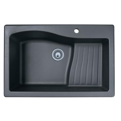 "Swanstone QZAD-3322 Drop-In Large Single Ascend Bowl Granite Kitchen Sink 33""W x 22""D"