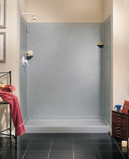 """Swanstone SK-366072 Solid Surface Shower Wall Kit 36"""" x 60"""" x 72"""" - Aggregate Color"""