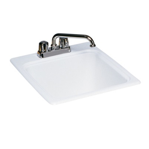 "Swanstone SSUS-S SC Small Utility Sink 17 1/4"" x 20"" Solid Color"