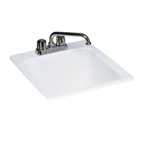 "Swanstone SSUS-S White SwanXpress Small Utility Sink 17 1/4"" x 20"""