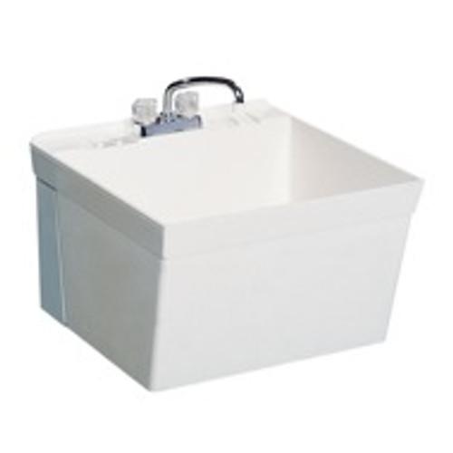 "Swanstone MF-1W Flock SwanXpress Laundry Tub 23 3/8"" x 22 7/8"" 22-gallon capacity"