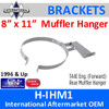 """8"""" x 11"""" Rear Muffler Hanger International 1660540C1 T44E"""