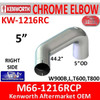 M66-1216RCP Kenworth Chrome Exhaust Right Elbow KW-1216RC