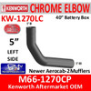 """M66-1270CP Kenworth Chrome Left 5"""" Elbow for 40"""" Steps"""