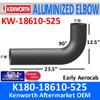 "K180-18610-525 Kenworth Exhaust Elbow Long 90 degree 5"" x 31"""