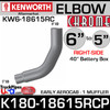 "6"" to 5"" Kenworth Aerocab Right Side Chrome Elbow K180-18615RCP"