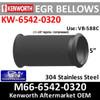 """M66-6542-0320 5"""" x 11 3/8"""" Kenworth Bellows Flex EGR Pipe"""