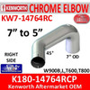 """7"""" Kenworth Right Chrome Exhaust reduced to 5"""" 14764"""