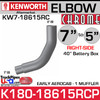 "7"" to 5"" Kenworth Aerocab Right Side Chrome Elbow 40"" Box K180-18615RCP"