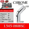 """5"""" 45 Degree Exhaust Elbow 8"""" x 8"""" OD-OD Chrome L545-0808SC"""