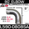 "5"" 90 Degree Exhaust Elbow 8"" x 8"" OD-OD Aluminized L590-0808SA"