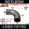 "5"" 90 Degree Exhaust Elbow 15"" x 15"" ID-OD Chrome L590-1515C"