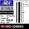 """MG-1048NS 10"""" x 48"""" 180 Degree Shield No Holes Stainless Steel Kit"""