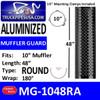 """MG-1048RA 10"""" x 48"""" 180 Degree Shield Round Holes Aluminum"""