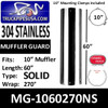 "MG-1060270NS 10"" x 60"" 270 Degree No Holes Polished SS"