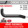 4ME-583M2 Mack CH & CL Chrome Exhaust Elbow MK-583M2C