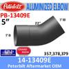 14-13409E Peterbilt 357,378,379 Aluminized Exhaust Elbow PB-13409-E