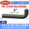 "14-15100-90x100880 Peterbilt Exhaust 5"" 90 Degree Aluminized Elbow"