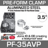"3.5"" Preformed Aluminized Exhaust Seal Clamp 10 Pcs Bulk Pack PF-35AVP"