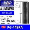 """4"""" x 48"""" Heat Shield Round Holes Aluminized with 2 brackets PG-448RA"""