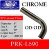 """6"""" Peterbilt Retro 90 Degree Elbow Chrome 39 x 18 OD-OD"""