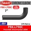 """7"""" Peterbilt Retro 90 Degree Elbow Chrome 18 x 39 OD Ends 10"""" CLR"""