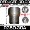 "R35O-3OA 3.5"" OD to 3"" OD Exhaust Reducer Aluminized"