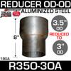 "R35O-3OA 3.5"" OD to 3"" OD Exhaust Reducer Aluminized"