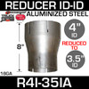 """4"""" ID to 3.5"""" ID Exhaust Reducer Aluminized Pipe R4I-35IA"""
