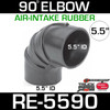 """5.5"""" Air Intake Rubber 90 Degree Elbow RE-5590"""