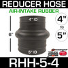 """5"""" ID to 4"""" ID Rubber Reducer Hose for Air Intake RHH-6-4"""