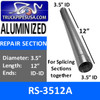 RS-3512A 3.5 inch x 12 inch Aluminized Exhaust Repair Section ID-ID