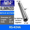 RS-424A 4 inch x 24 inch Aluminized Exhaust Repair Section ID-ID