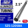 "S25-120SBA 2.5"" x 120"" Straight Cut Aluminized Exhaust Tubing"