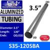 "S35-120SBA 3.5"" x 120"" Straight Cut Aluminized Exhaust Tube OD Ends"