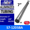 "S7-120SBA 7"" x 120"" Straight Cut Aluminized Tubing OD Ends 14 Gauge"