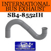 "1684397C1 International Bus Pipe 3 Bend 3.5"" OD Flare Flat ALZ"