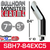 """7"""" x 84"""" Bullhorn Chrome Monster Stack Reduced to 5"""" ID"""