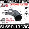 "6"" OD 90 Degree 13"" x 13"" Reduced to 5"" ID Chrome SL690-1313C"