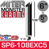"""6"""" x 108"""" Miter Cut Chrome Monster Stack Reduced to 5"""" ID"""