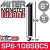 """6"""" x 108"""" Miter Cut Chrome Monster Stack Reduced to 5"""" OD"""